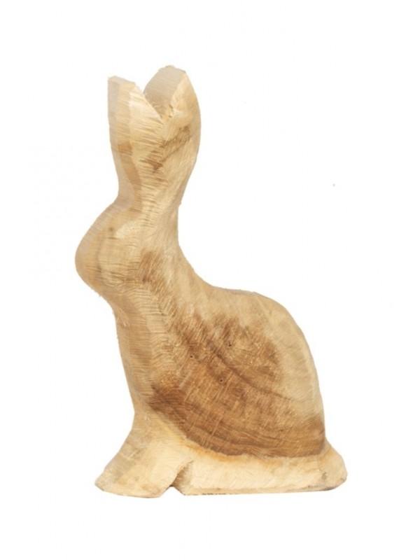 Holz Hase Pappel natur 25x15cm