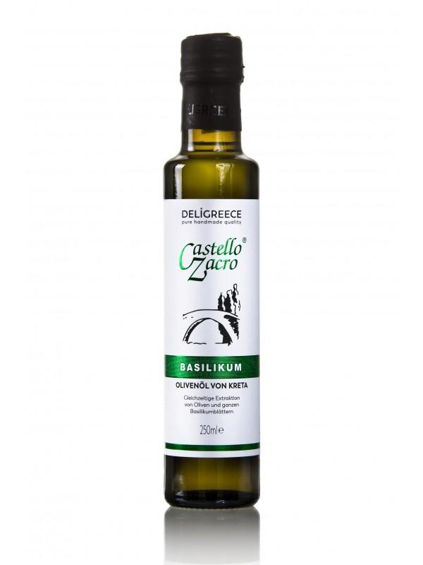 Olivenöl - Basilikum Castello Zacro 250ml