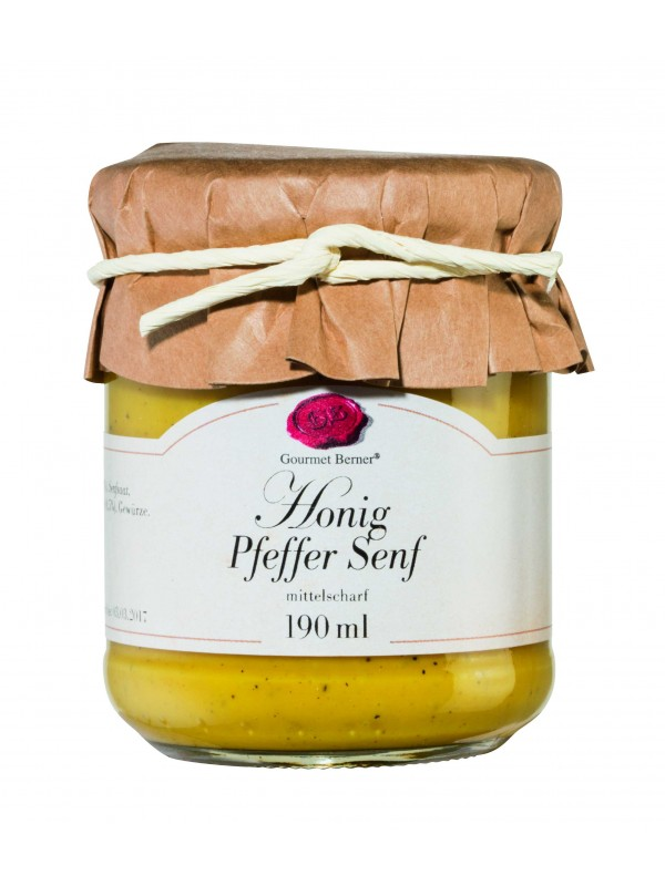 Honig Pfeffer Senf im 190ml Glas