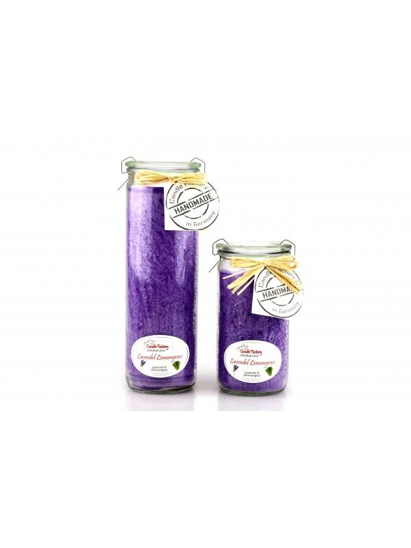 Kerze Mini-Jumbo Lavendel - Lemongras