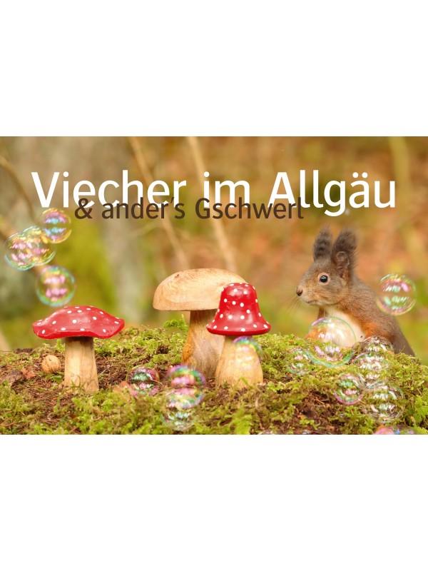 "Lutzi's ""Viecher im Allgäu"" Wochenkalender 2021 Postkartenkalender"