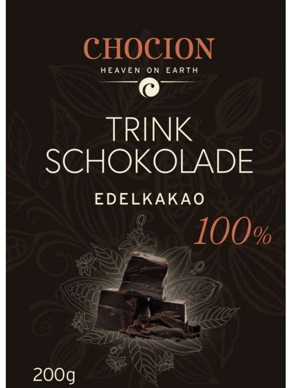Trinkschokolade Pulver 100% 200g