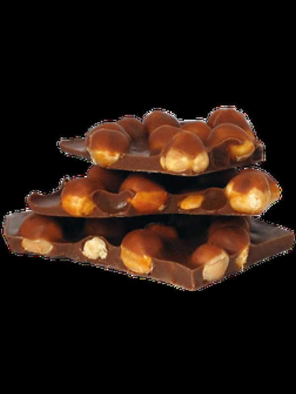 Bruchschokolade Tafel Milchschokolade mit caramelisierten Haselnüssen 100g