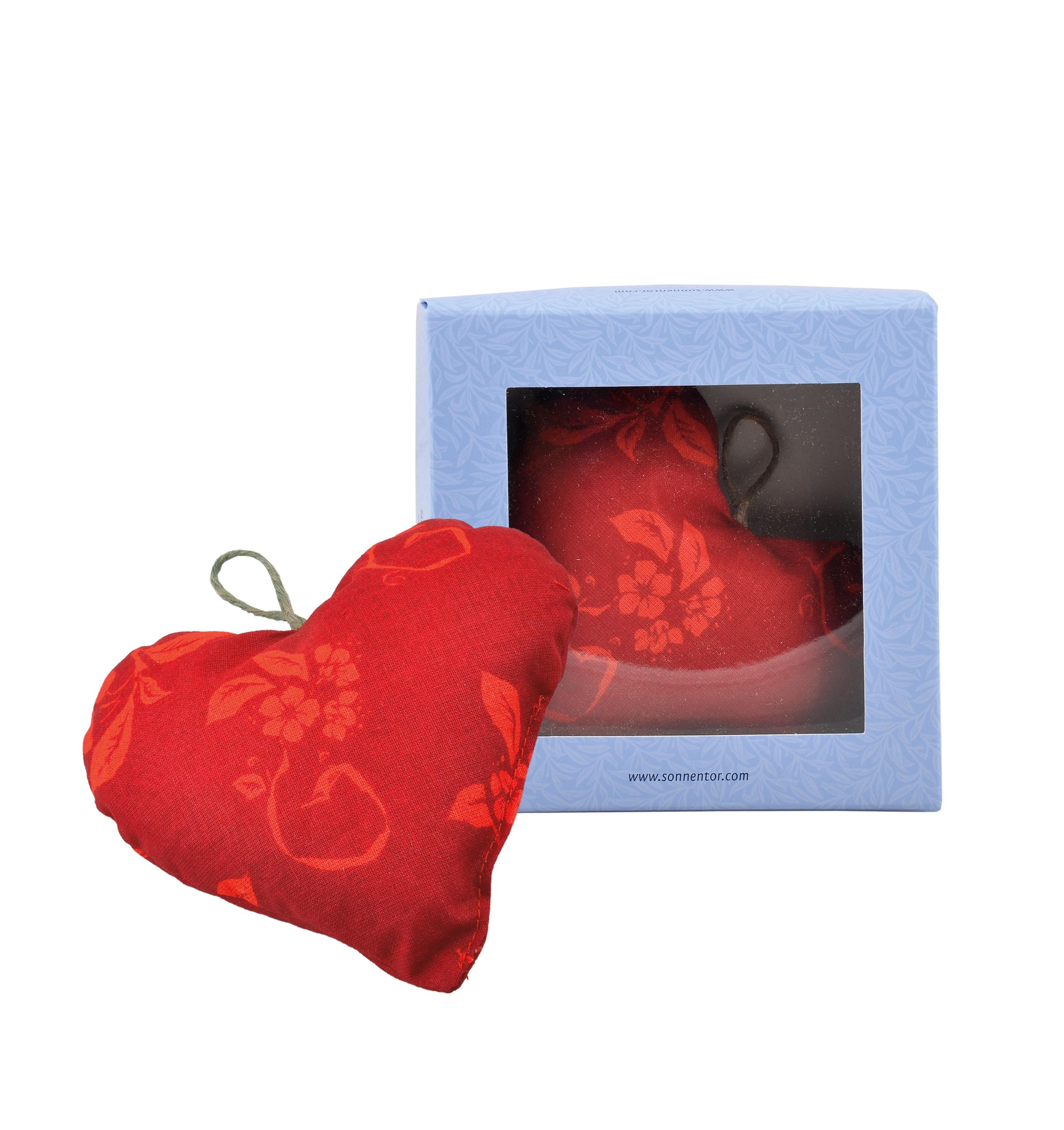 Alles Liebe-Kräuterkissen, Herzform in Geschenkbox