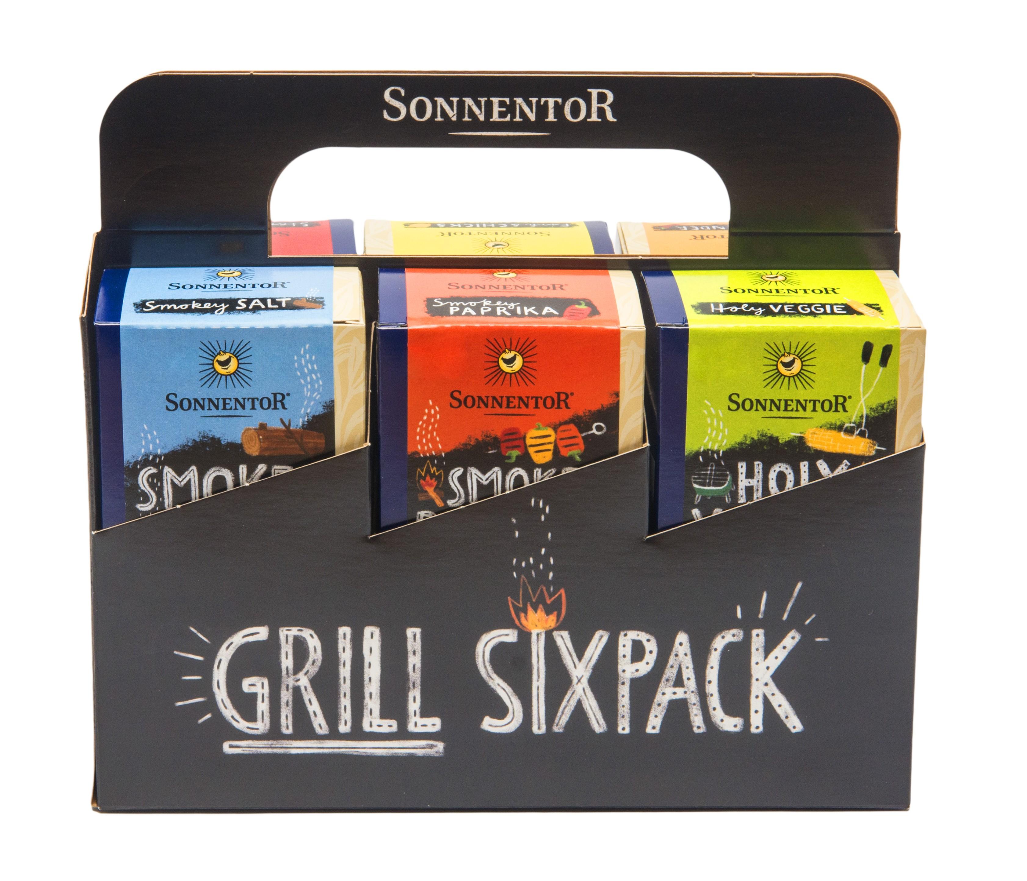 Grillgewürze Sixpack bio 6 verschiedene Grillspezialitäten