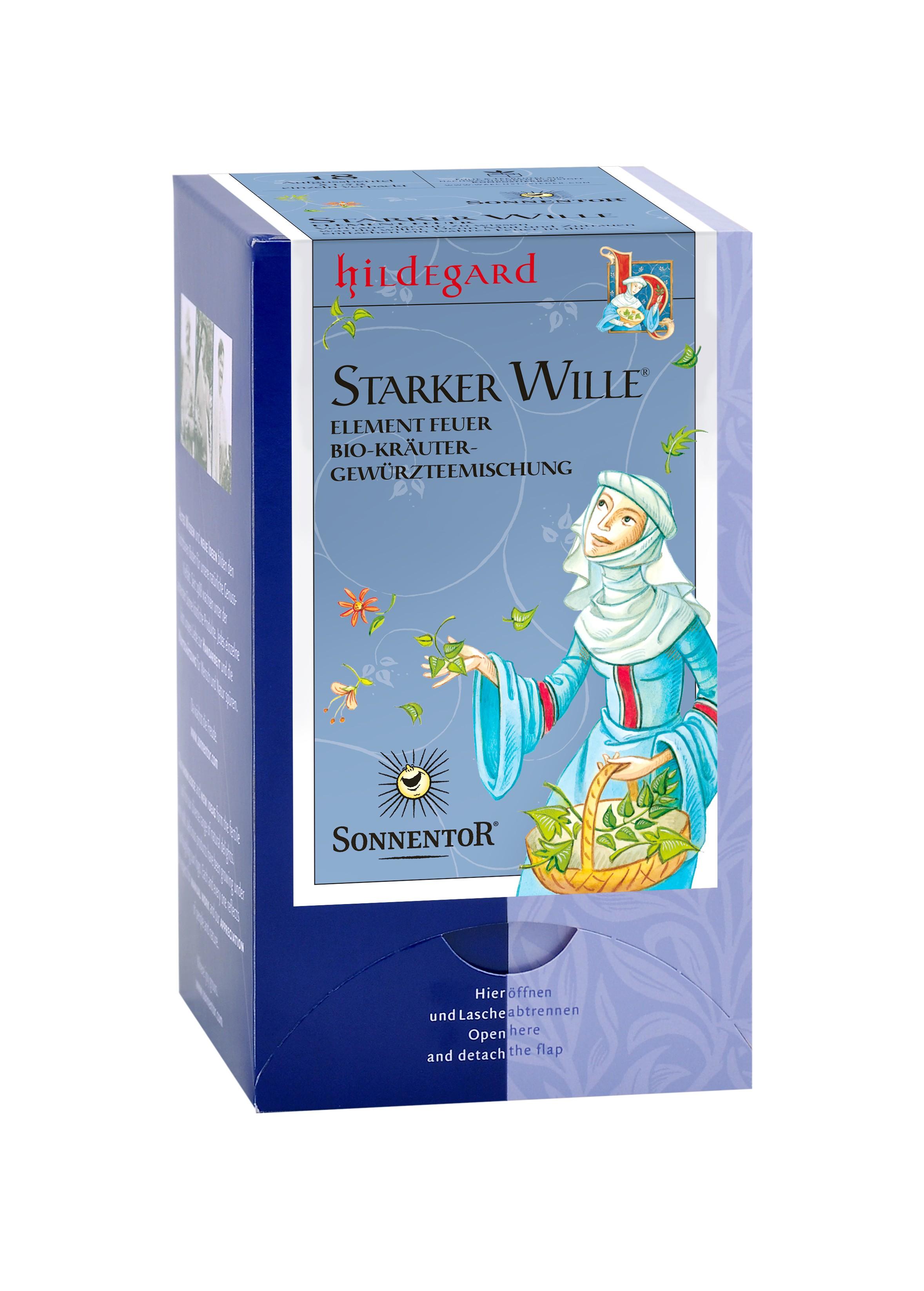 Starker Wille 4 Elemente (Feuer) Hildegard Tee Beutel