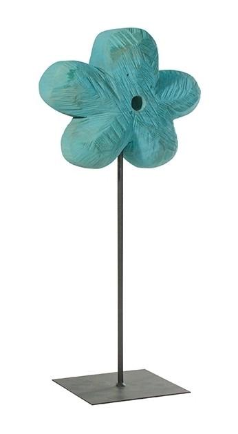 Holz Blume Pappel blau 50x20cm