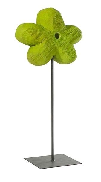 Holz Blume Pappel gelb 50x20cm