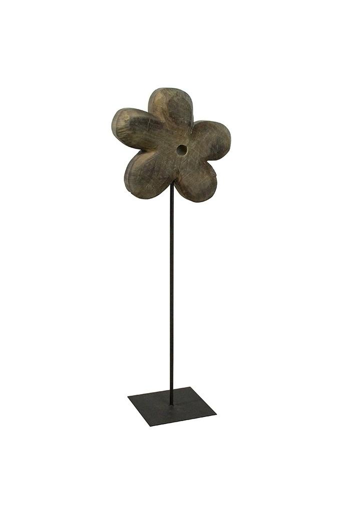 Holz Blume Pappel grau 130x45