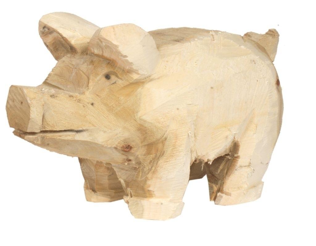 Holz Schwein Pappel natur 20x35cm