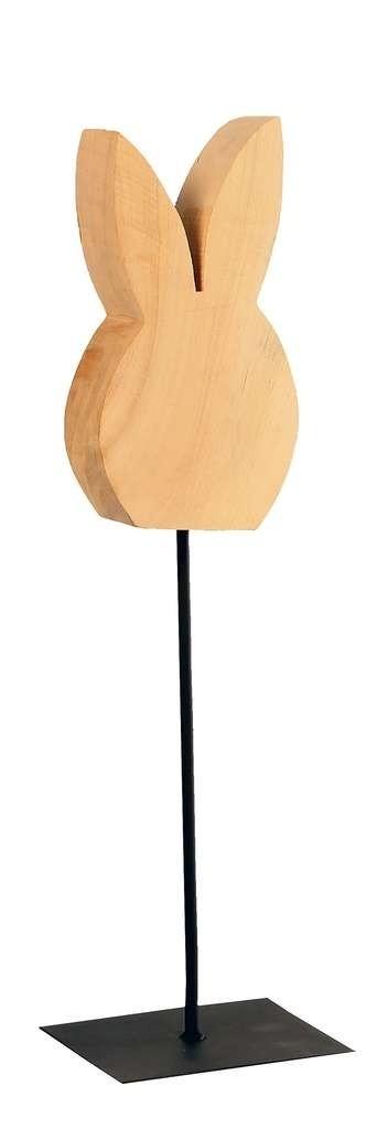 Holz Hase auf Fuß Holz natur 60cm