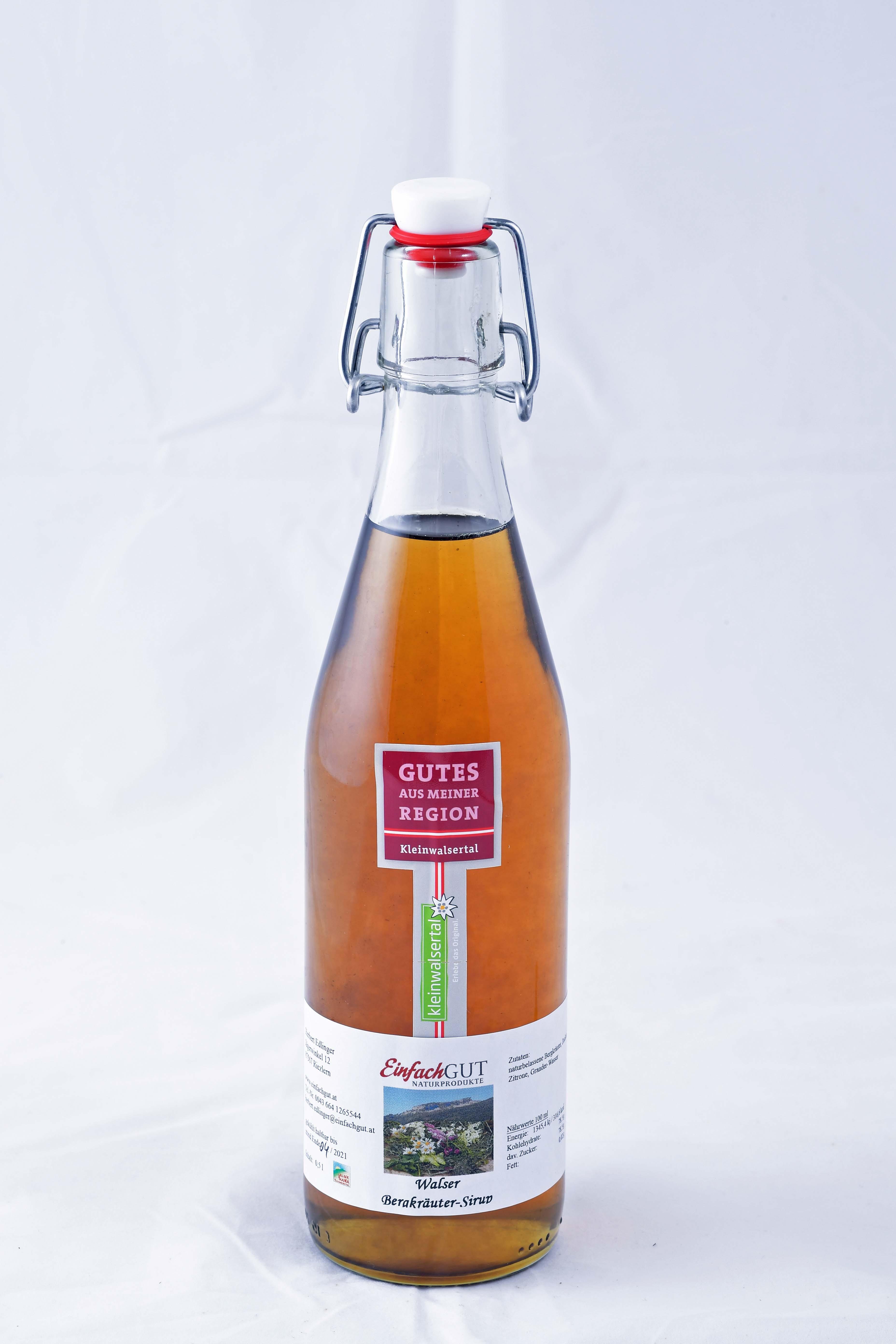 Bergkräuter-Sirup 500ml bio