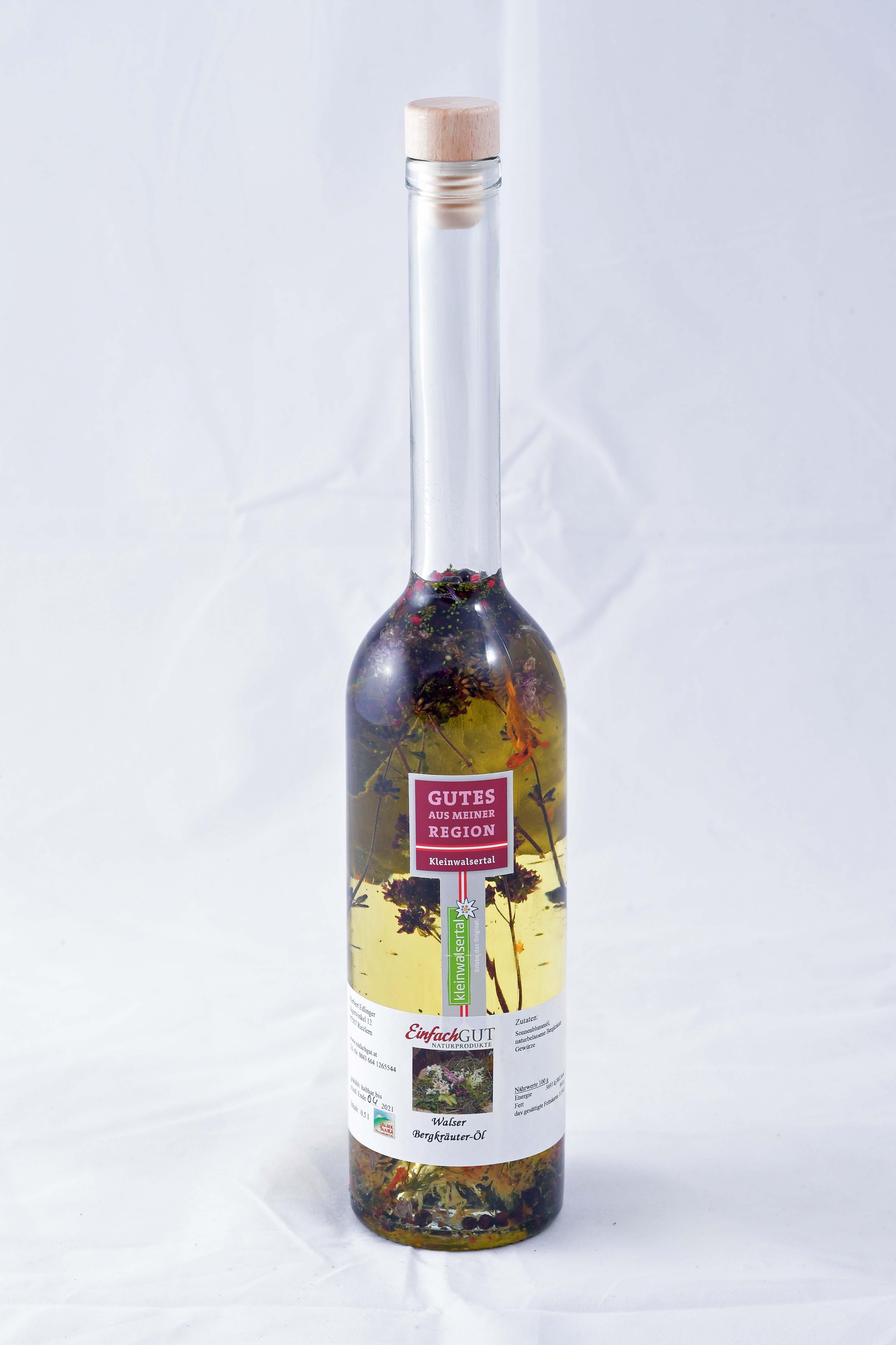 Bergkräuter-Öl 500ml  bio