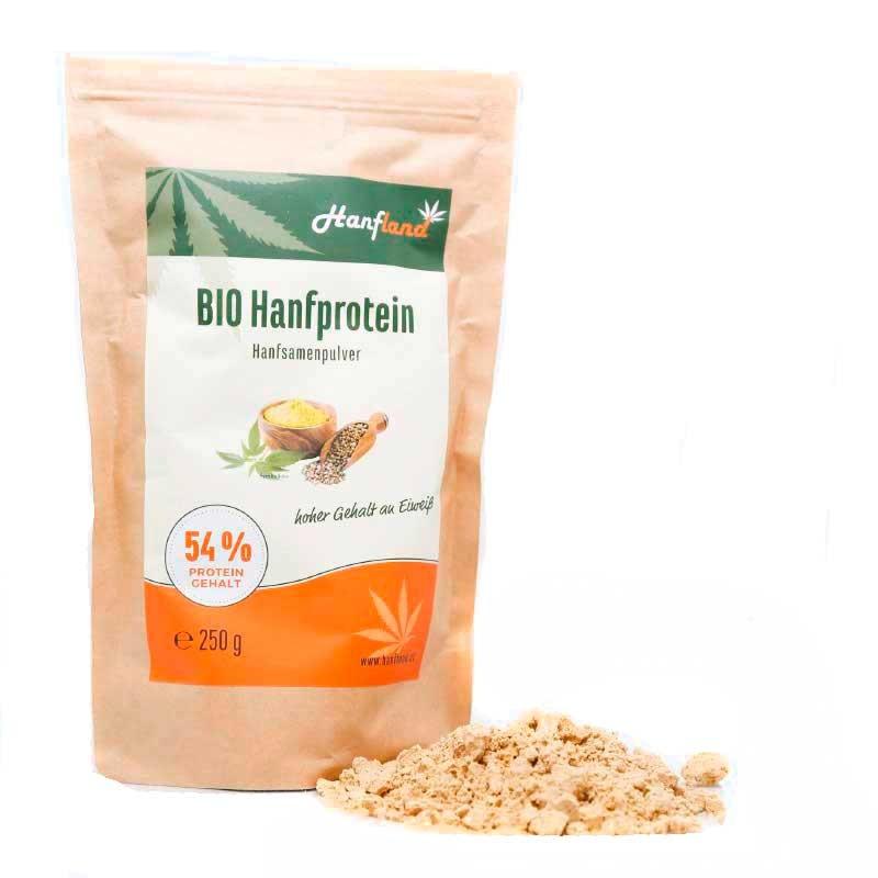 Hanfprotein 54% 250g bio