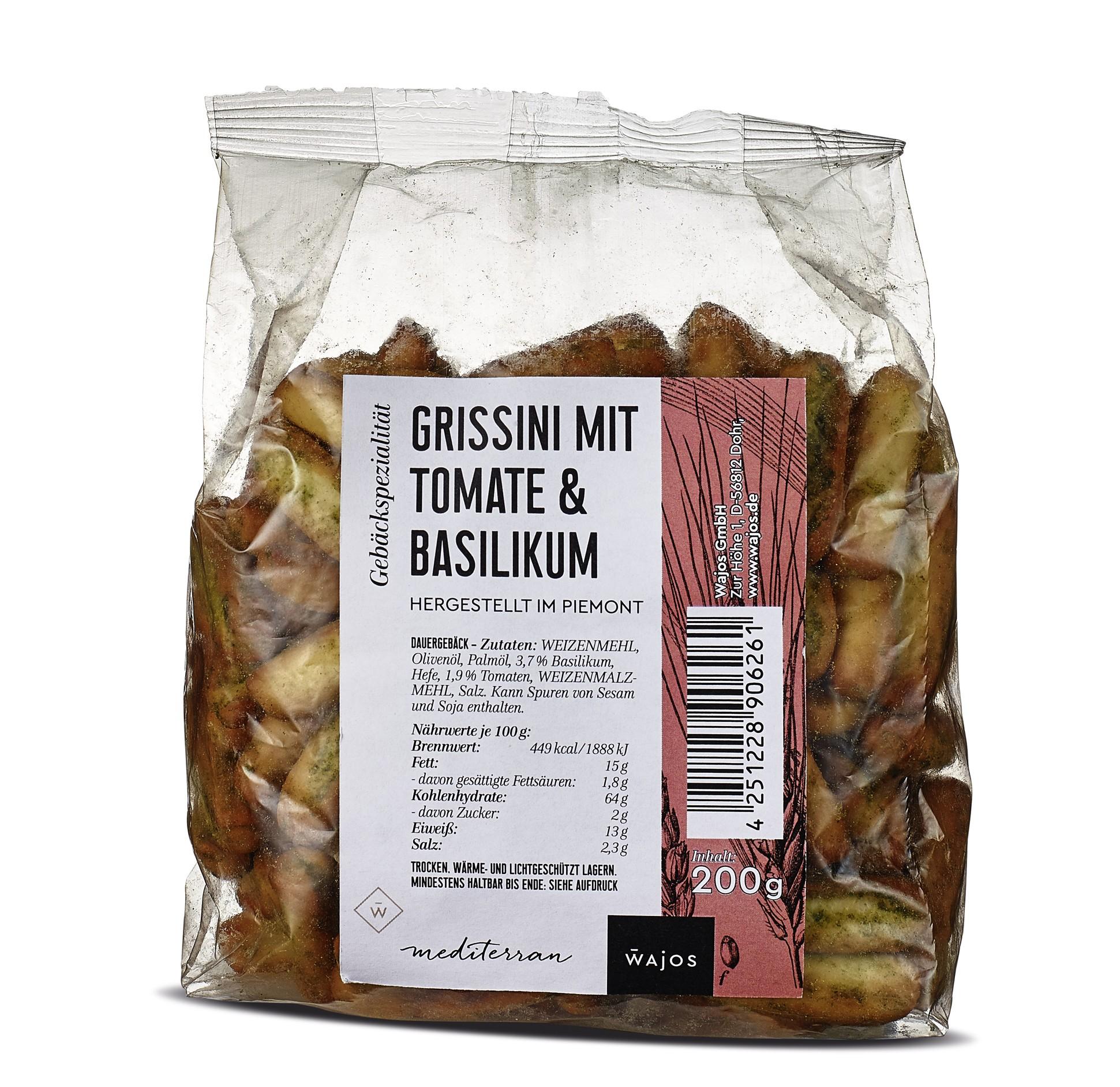 Grissini mit Tomate-Basilikum 200g