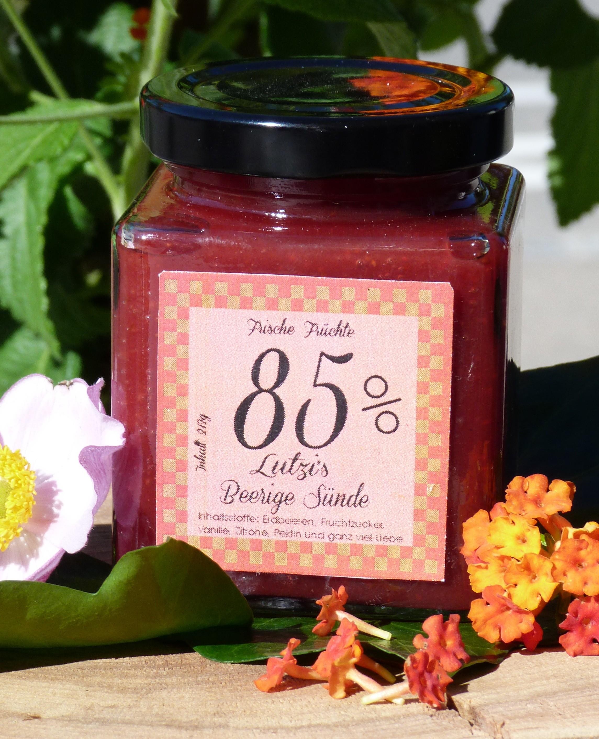 Beerige Sünde 212g Erdbeer Marmelade