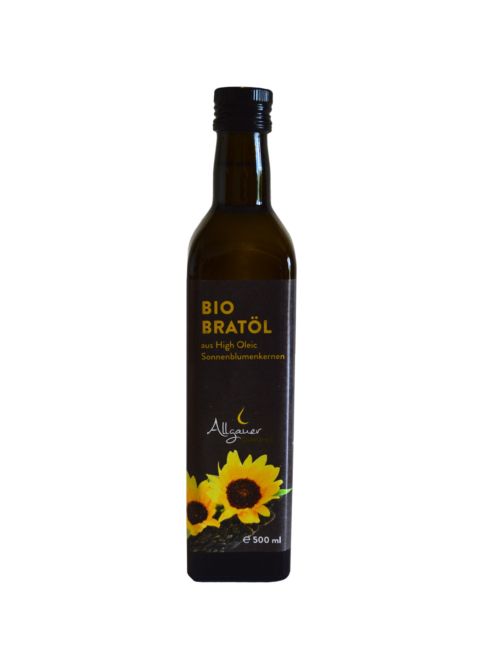 Bratöl-Bio aus Sonnenblumenkernen 500ml aus dem Allgäu