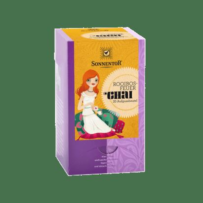 Chai Rooibosfeuer Tee Bio-Rooibos-Gewürzteemischung Sonnentor