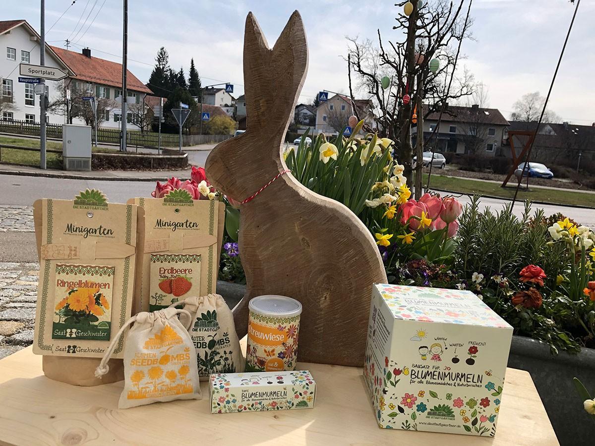 Gartenbox mit Hase von Lutzi (Geschenkbox)