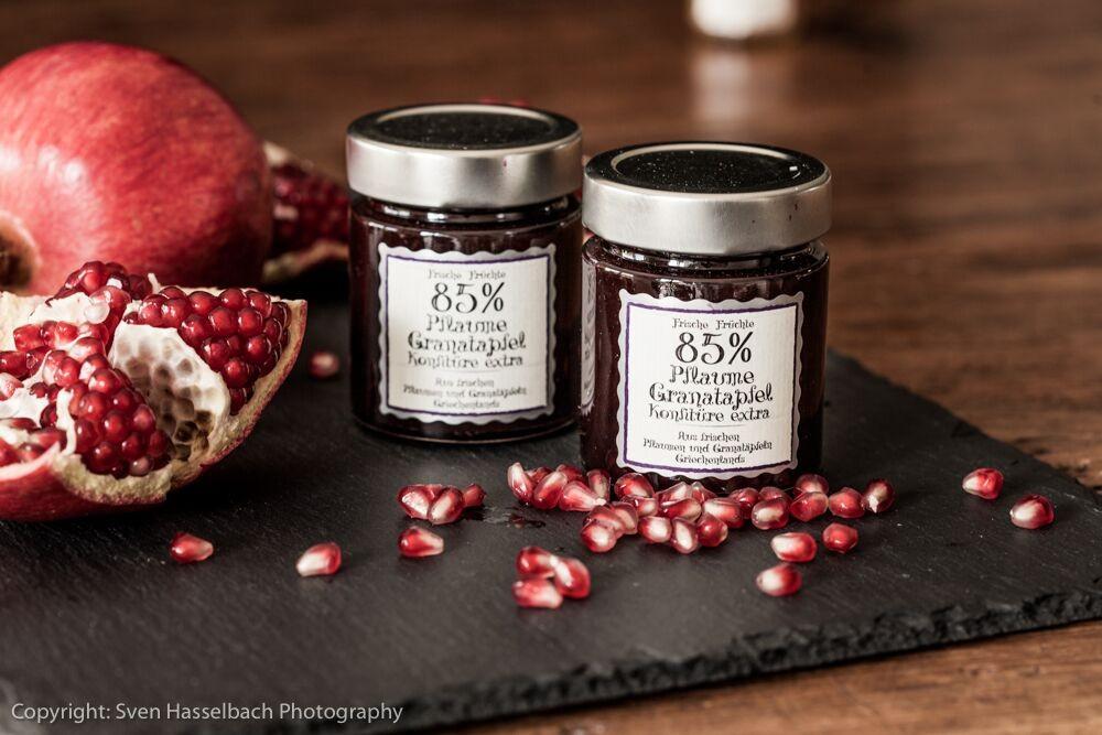 Pflaume & Granatapfel Konfitüre extra 85% 180g