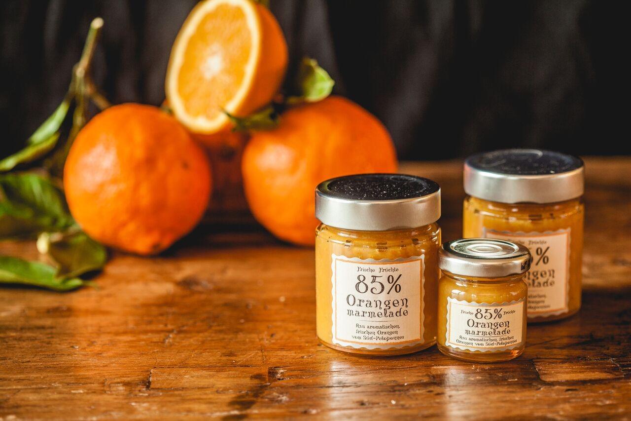 Orangen Marmelade 85% 180g
