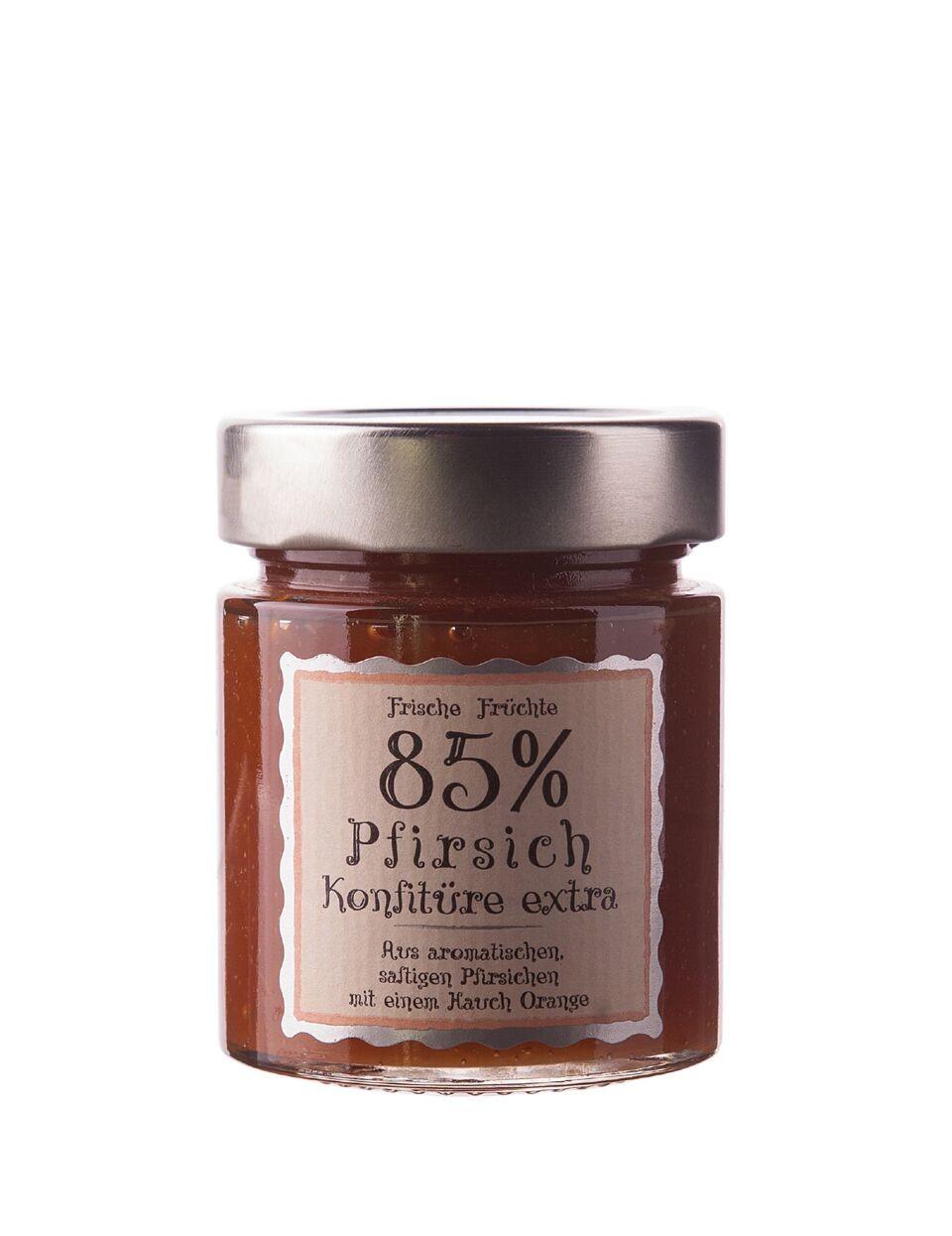Pfirsich Konfitüre 85% extra 180g