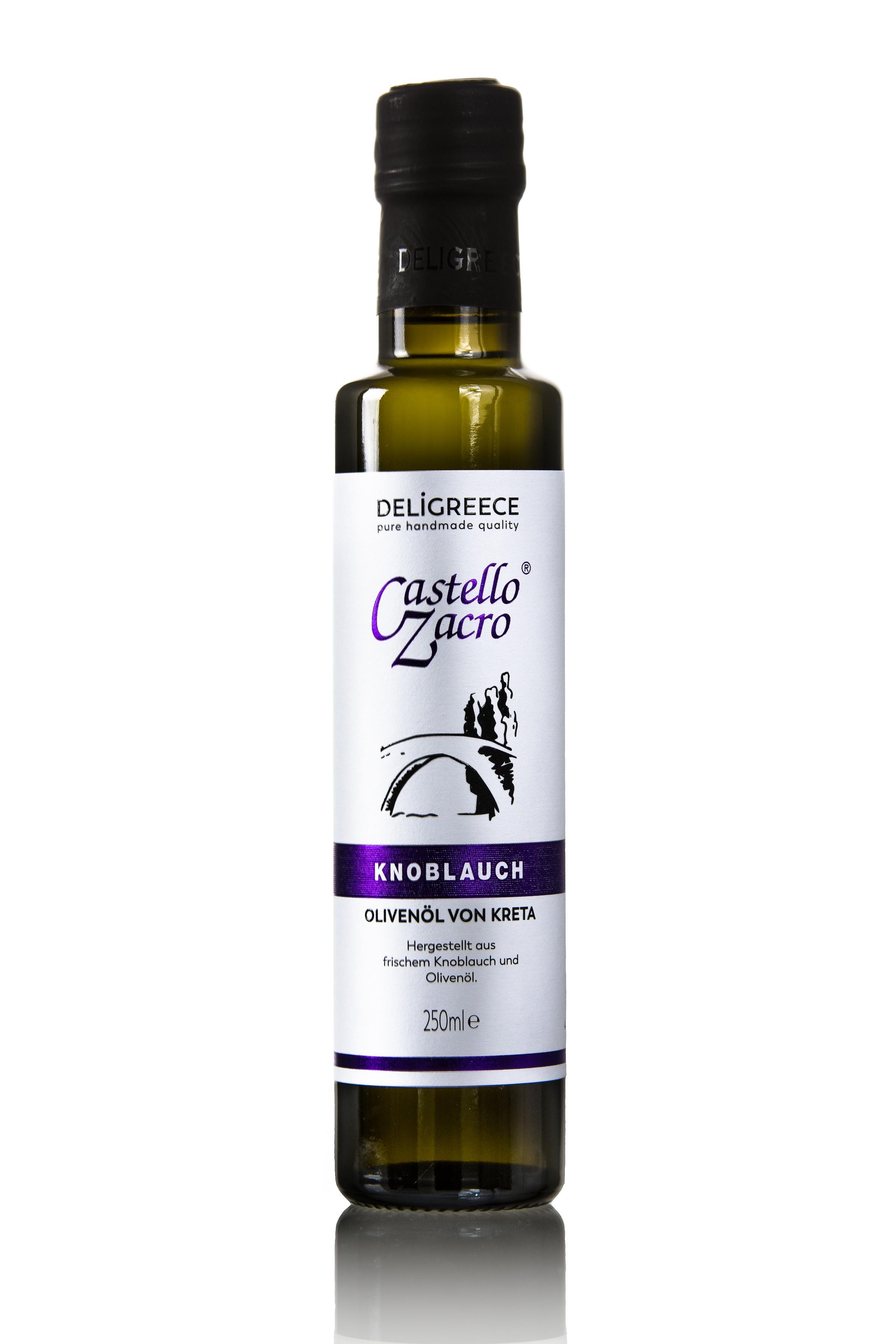 Knoblauch-Olivenöl Castello Zacro 250ml