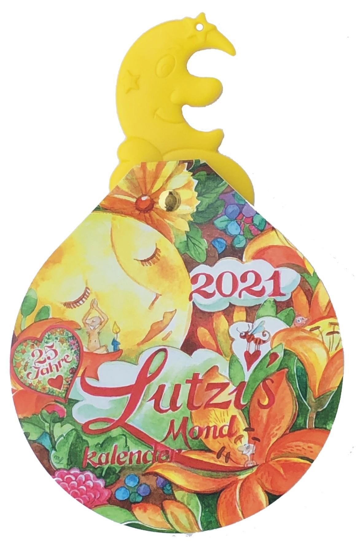 Lutzi's Mondkalender Rund 2021  mit Mondaufhänger
