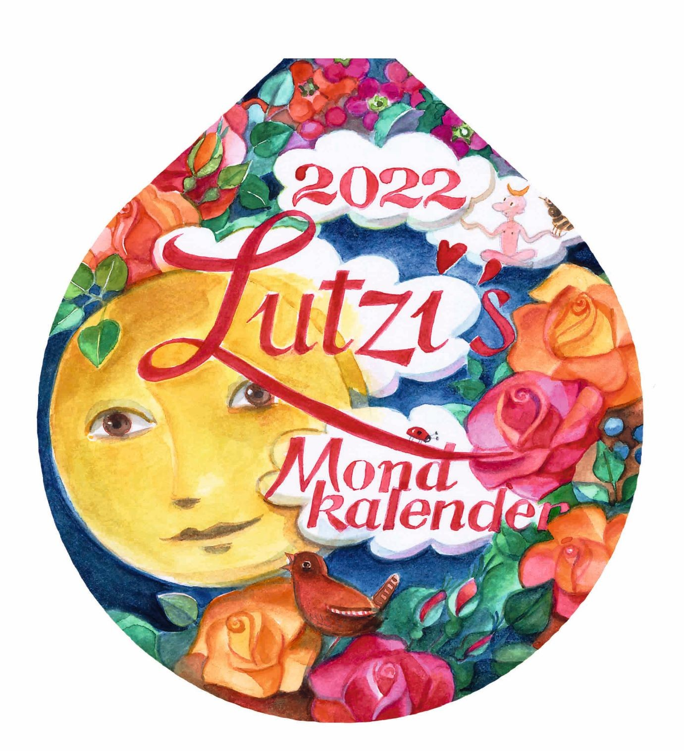 Lutzi's Mondkalender Rund 2022 mit Mondaufhänger