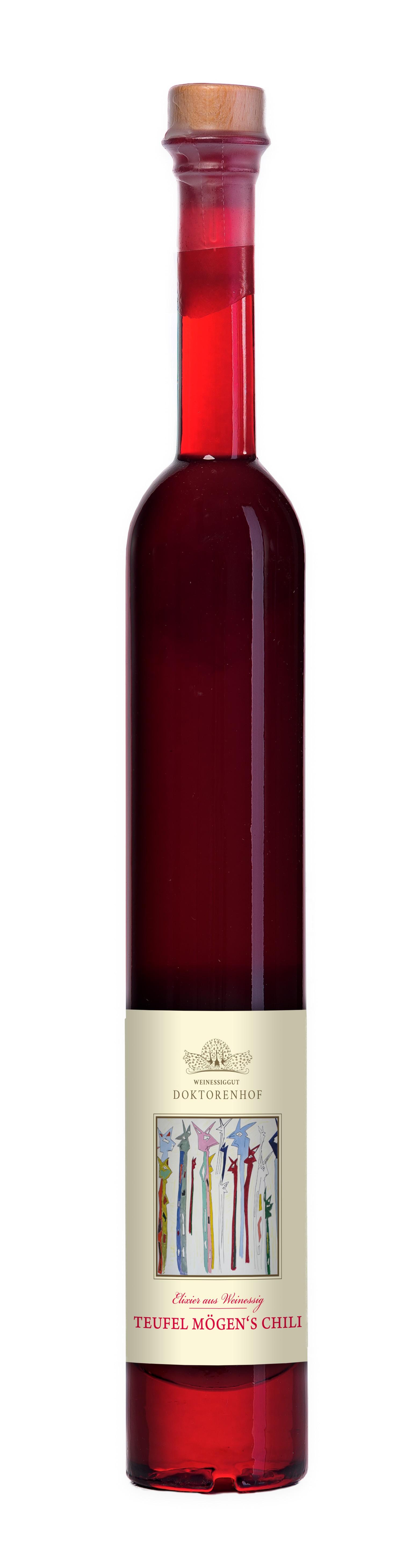 Teufel mögen´s Chili Essig 125 ml Pavoflasche